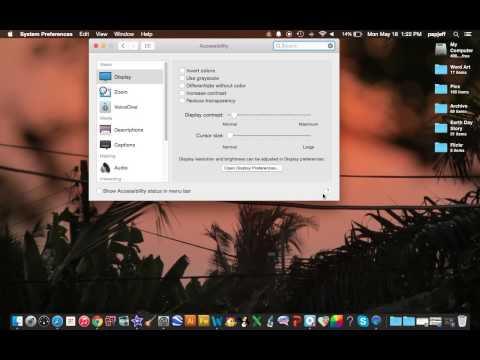 Increase the Cursor Size on your MacBook Pro