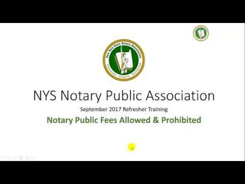 NY Notary Public Prohibited Fees Laws