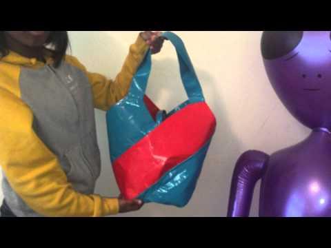 Satchel and hand bag/ ragbag