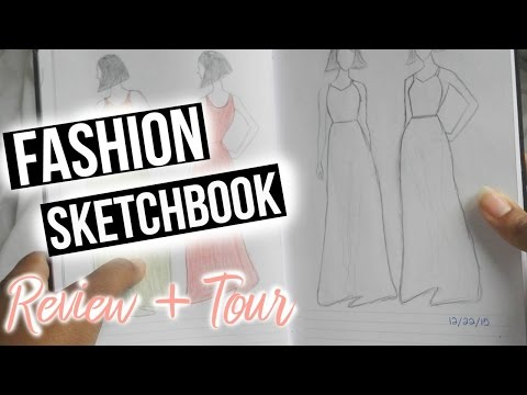 Fashion Design Sketch Book Review & Tour | Fashion Sketchbook