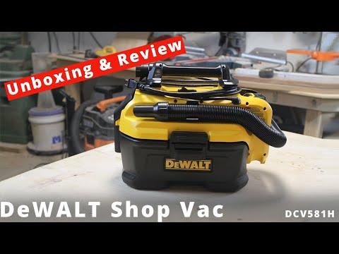 DeWalt 20 Volt Max, A/C and 18V Cordless Shop Vac Review (DEWALT DCV581H)