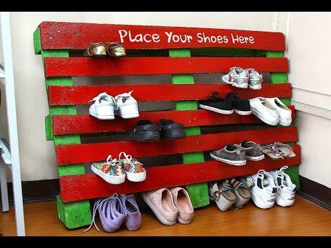 Beautiful Pallet Shoe Rack Design Ideas