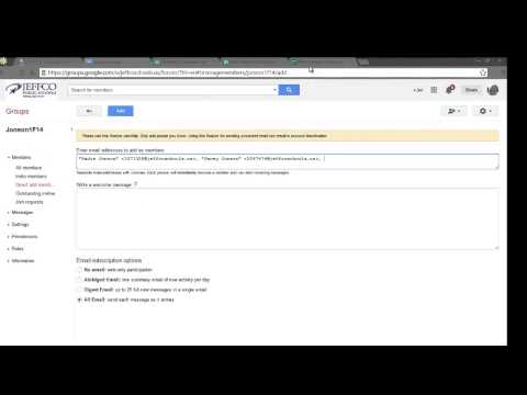 Creating Google Groups, Adding & Deleting Members, & Deleting Groups