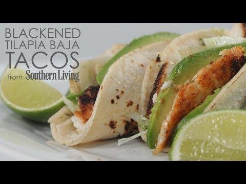 How to Cook Blackened Tilapia Baja Tacos | MyRecipes