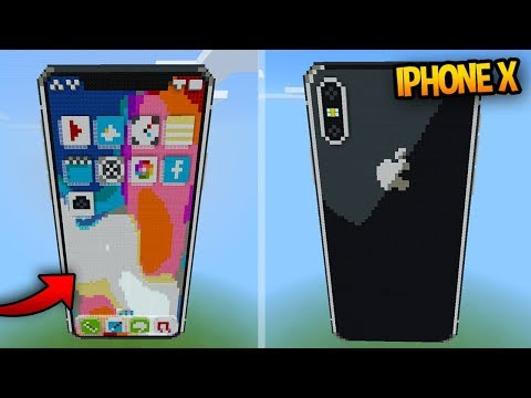 WORKING iPhone X in Minecraft! (Command Block Creation)