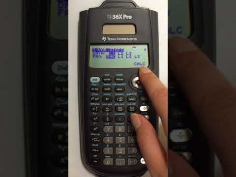 Finding Standard Deviation and Variance in TI 36X Pro Scientific Calculator