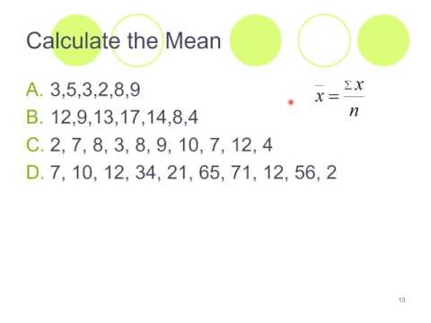 Averages: Mean Median and Mode