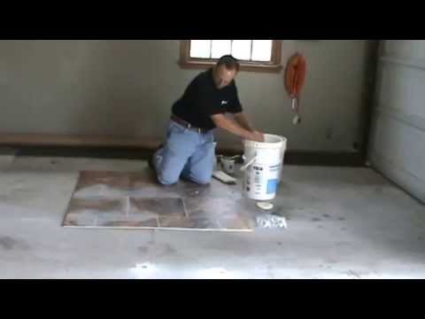 Grouting of Armstrong Alterna Tile