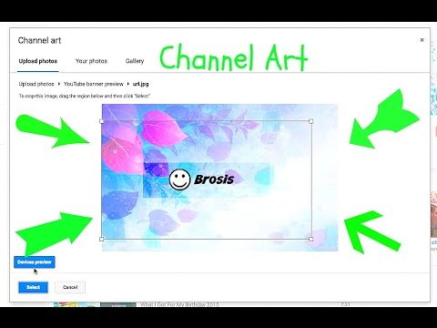 HOW TO MAKE A CHANNEL ART| Hanna