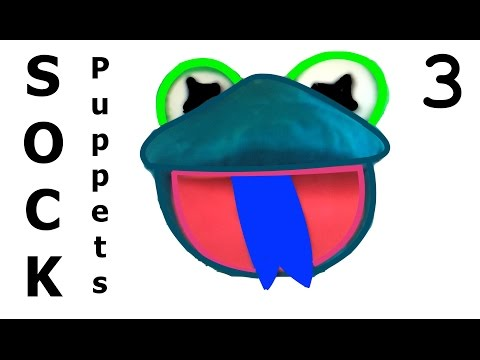 How to Make SOCK Puppets 3 - Style 3 -  Frog / Çorap Kukla - Kurbağa