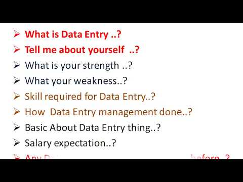 data entry: data entry interview questions and answers for freshers in hindi
