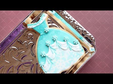 How to make Elsa's dress cookie - Snow princess cookies
