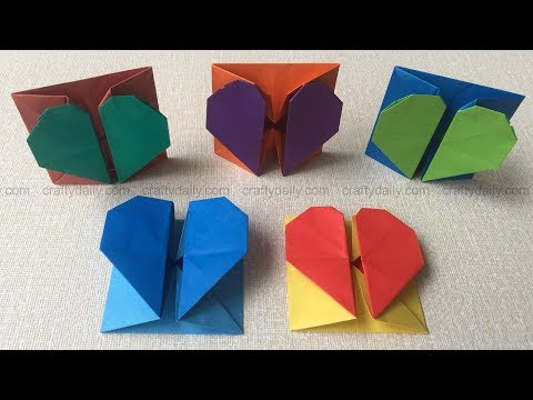 Origami Heart Box & Envelope | How To Make An Origami Heart Box Step by Step Tutorial