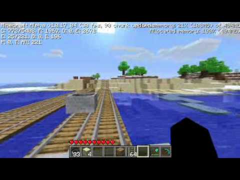 Minecraft Alpha - Minecart Train