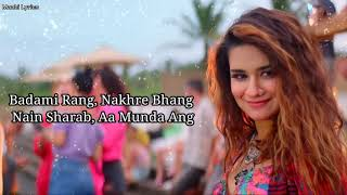 Gambar Badami Rang (Lyrics) - Avneet kaur, Nikk | Maahi Lyrics