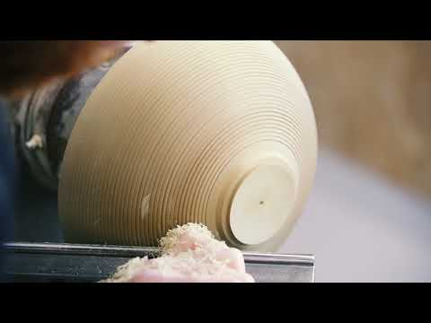 Woodturning - A textured bowl from locust