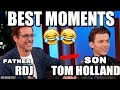 Tom Holland And Robert Downey Jr Funniest And Best FatherSon Moments Try Not To Laugh 2018