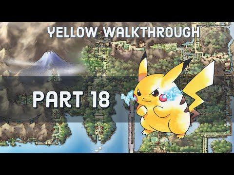 Pokemon Yellow Walkthru - Part 18 - to Cinnabar Island/Pokemon Mansion