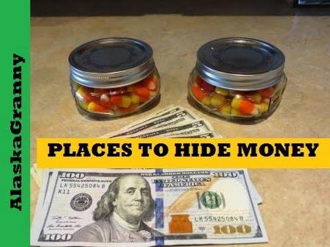 Hide Money or Valuables In Secret Candy Jar