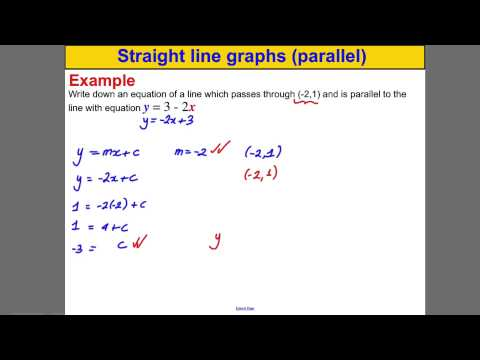 Straight line graphs (parallel)