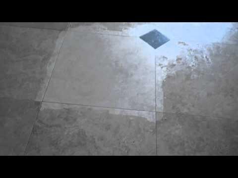 Travertine wax removal