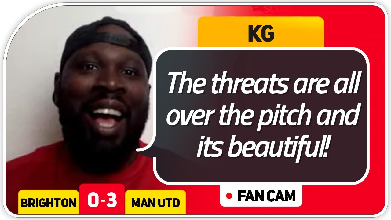 SOLSKJAER PURE CLASS! Brighton 0-3 Manchester United FanCam