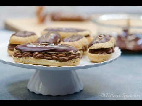 Chocolate Eclairs Recipe with Chocolate Pastry Cream {French Eclairs}