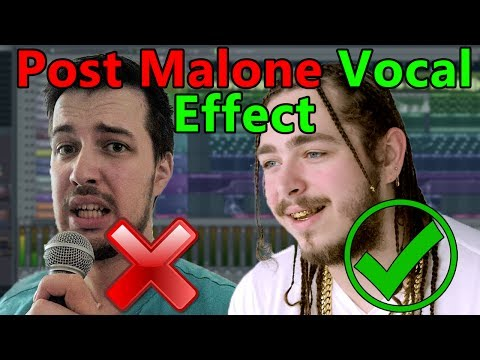 How to make VOCALS like Post Malone (if you can't sing) - FL Studio Tutorial