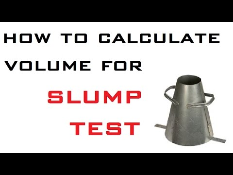 Concrete Volume For Slump Test By Learning Technology