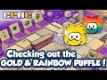 Club Penguin Rewritten - Checking out the Gold and Rainbow Puffle!