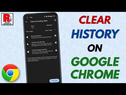CLEAR GOOGLE CHROME HISTORY FROM ANDROID DEVICE