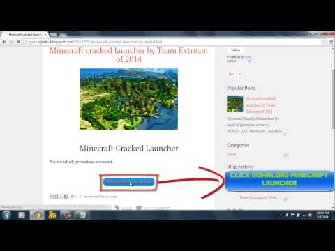 Minecraft Launcher 1.7.6 cracked Team Extreme 100% working