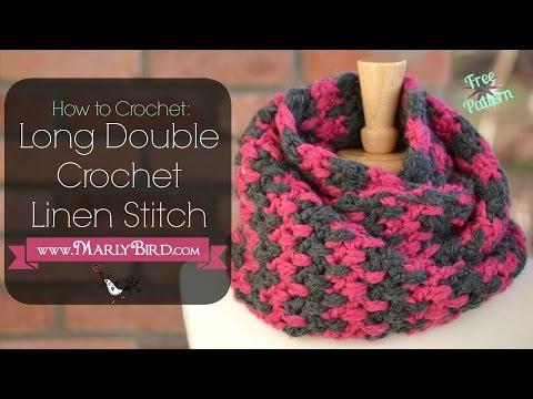 How to Crochet Long Double Crochet Linen Stitch