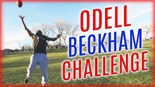 The Odell Beckham Jr. Challenge - YouTuber IRL Football Challenge