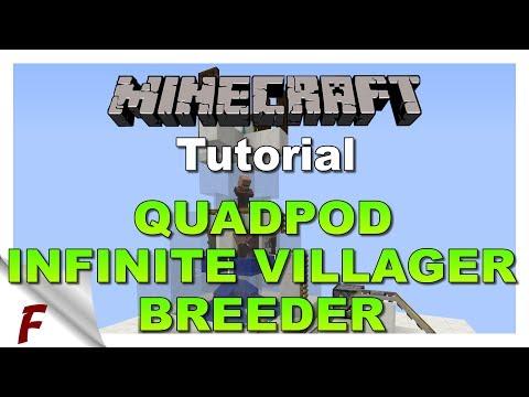 ✅ NEW Minecraft Quadpod Infinite Villager Breeder Tutorial 1.13, 1.12, 1.12.1 & 1.12.2