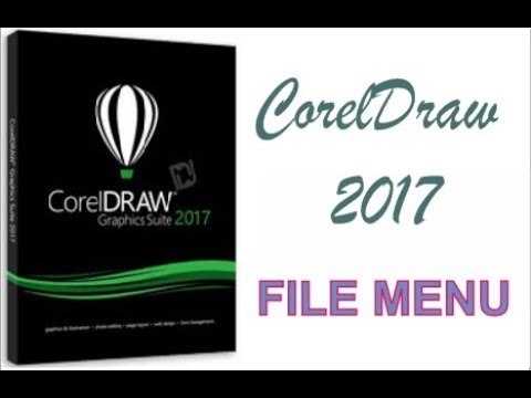 COREL DRAW 2017 USING FILE MENU BAR IN HINDI URDU PART 41