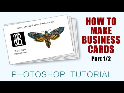 How To Make Business Cards with Photoshop CC [Part 1/2]