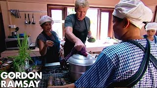 Gordon Ramsay Tries & Cooks A Traditional Fish Amok In Cambodia  | Gordon