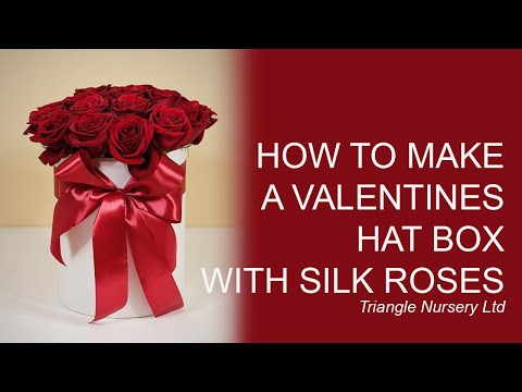 How to Make a Valentine's Hat Box using Artificial Flowers