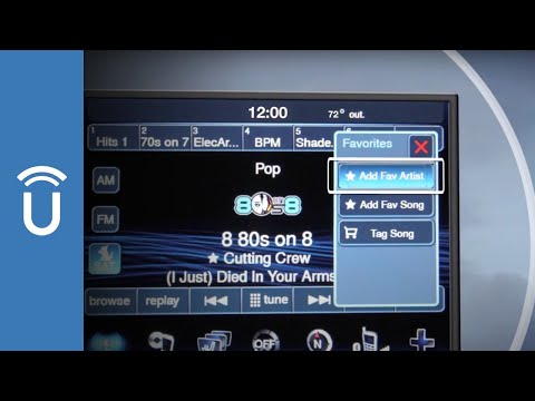 Save Your SiriusXM® Satellite Radio Favorites | Uconnect® 8.4 and 8.4N Systems