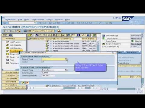 17. How to create transformation rules in SAP Business Intelligence (BI / BW)