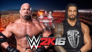 GOLDBERG VS ROMAN REIGNS - WWE CHAMPIONSHIP MATCH!!!