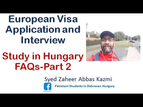 Study in Hungary Part - 2    European Visa Application and Interview Guidelines m4a