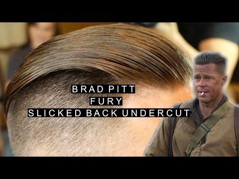 Brad Pitt Fury Hairstyle | Mens Slicked Back Undercut | Popular Mens Hairstyles