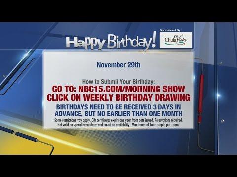 Birthdays for November 29