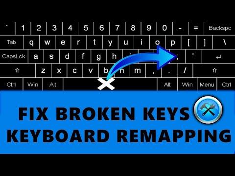 Fix broken keyboard keys by remapping (easy fix)