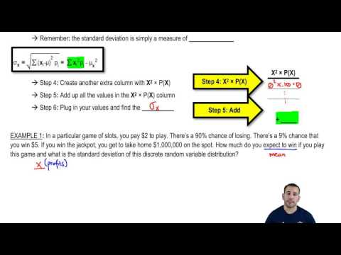 Determining the Mean and Standard Deviation of a Discrete Random Variable