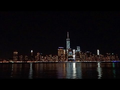 View of Manhattan, New York at night from Newport, Jersey City