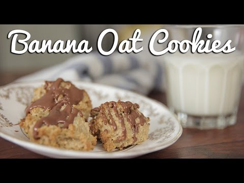 Healthy, Easy Banana Oat Cookies - Crumbs
