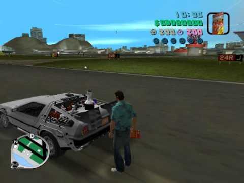 GTA BTTF Hill Valley - My new De Lorean Time Machine engine SFX